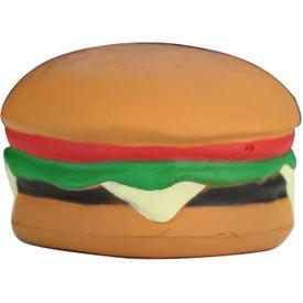 Imprinted Hamburger Stress Toy