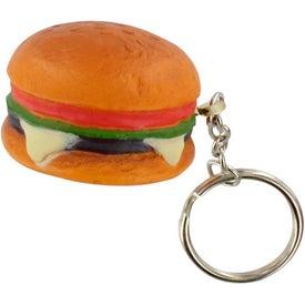 Custom Hamburger Stress Ball Key Chain