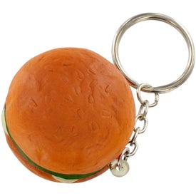Custom Hamburger Stress Ball Key Chain