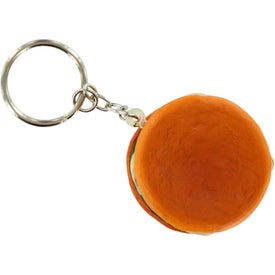 Hamburger Stress Ball Key Chain with Your Slogan