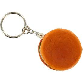 Hamburger Stress Ball Key Chain with Your Slogan