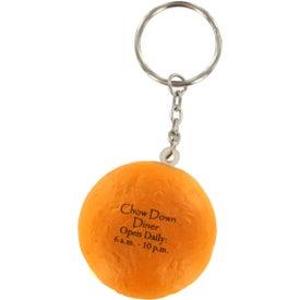 Customized Hamburger Stress Ball Key Chain