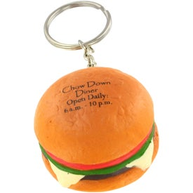 Company Hamburger Stress Ball Key Chain