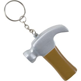 Hammer Key Chain Stress Ball Printed with Your Logo