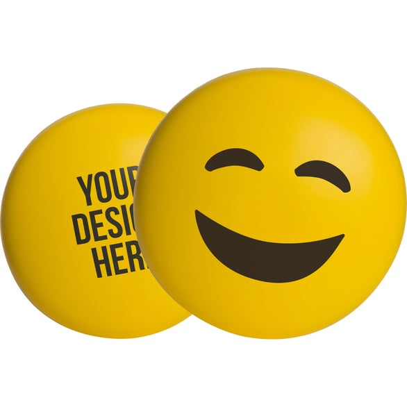Yellow Happy Face Emoji Stress Reliever
