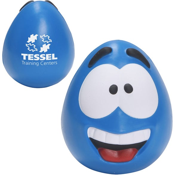 Blue Happy Face Slo-Release Serenity Stress Ball