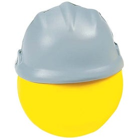 Advertising Happy Face with Hard Hat Stress Ball