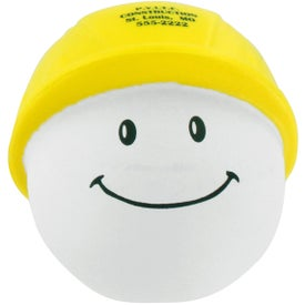 Personalized Hard Hat Mad Cap Stress Ball