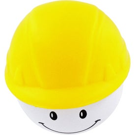 Hard Hat Mad Cap Stress Ball for Marketing