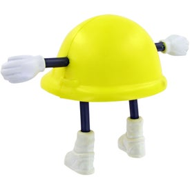 Custom Hard Hat Man Stress Toy