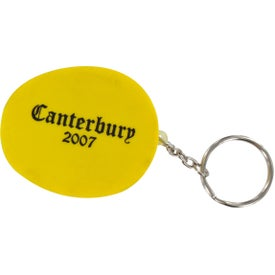 Monogrammed Hard Hat Stress Ball Key Chain