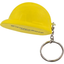 Company Hard Hat Stress Ball Key Chain