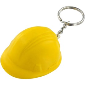 Hard Hat Stress Ball Key Chain