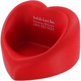 Imprinted Valentine Heart Cell Phone Holder Stress Ball