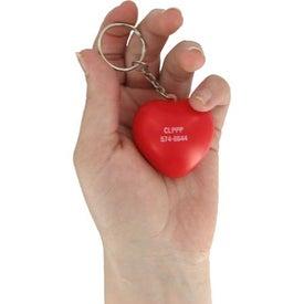 Company Valentine Heart Stress Ball Key Chain