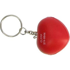 Valentine Heart Stress Ball Key Chain for Promotion