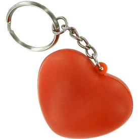 Custom Heart Key Ring Stress Reliever