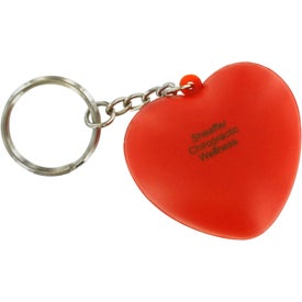 Heart Key Ring Stress Reliever for Advertising