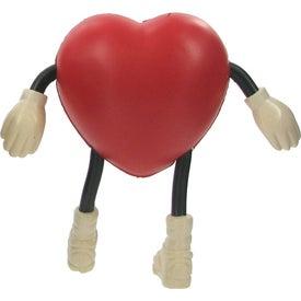 Valentine Heart Figure Stress Ball for Advertising