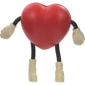 Promotional Valentine Heart Figure Stress Ball