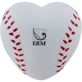 Heart Shaped Baseball Stress Reliever