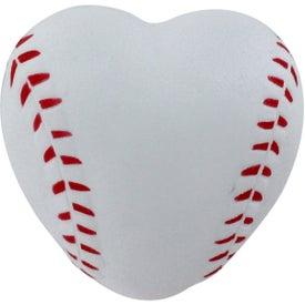 Company Heart Shaped Baseball Stress Reliever