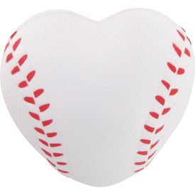Heart Shaped Baseball Stress Reliever for Advertising