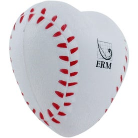 Customized Heart Shaped Baseball Stress Reliever