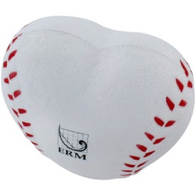 Logo Heart Shaped Baseball Stress Reliever