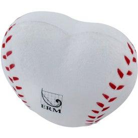 Logo Heart Shaped Baseball Stress Reliever