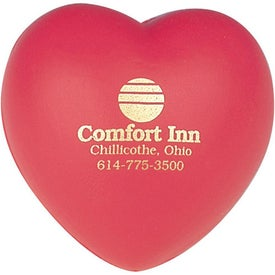 Heart Shaped Stress Reliever with Your Logo