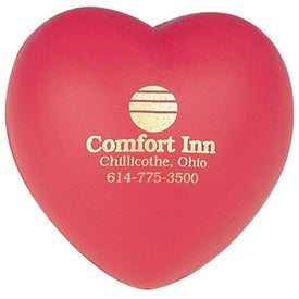 Branded Heart Shaped Stress Reliever