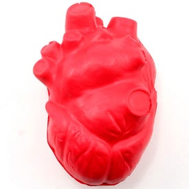 Imprinted Heart Squeezer Stress Toy