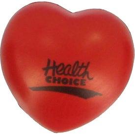 Printed Heart Stress Ball