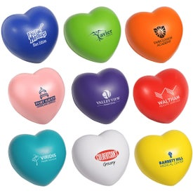Heart Stress Ball Imprinted with Your Logo