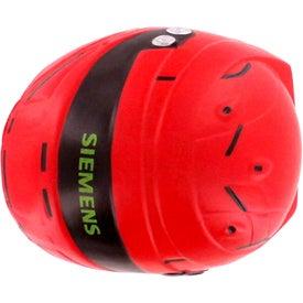 Helmet Stress Reliever with Your Slogan