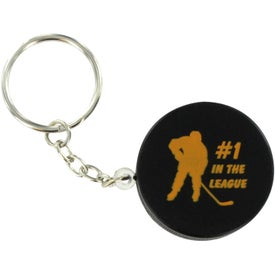 Hockey Puck Key Chain Stress Ball for Your Organization