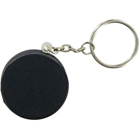 Hockey Puck Keychain Stress Toy Printed with Your Logo