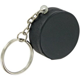 Hockey Puck Keychain Stress Toy for Promotion