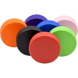 Imprinted Hockey Puck Stress Toy