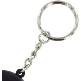 Hockey Puck Stress Reliever Key Ring for Marketing