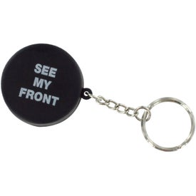 Hockey Puck Stress Reliever Key Ring