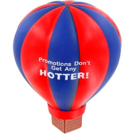 Imprinted Hot Air Balloon Stress Ball