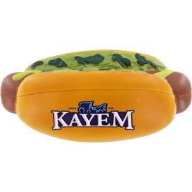 Hot Dog Stress Toy with Your Slogan