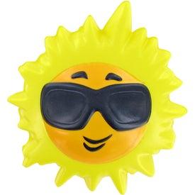 Printed Hot Sun Stress Toy