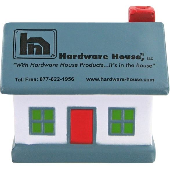 Blue / White House Stress Toy