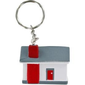 House Stress Ball Key Chain