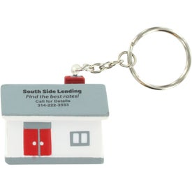 House Stress Ball Key Chain with Your Slogan