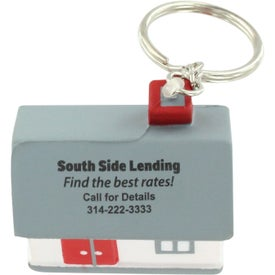 Advertising House Stress Ball Key Chain