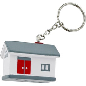 Printed House Stress Ball Key Chain